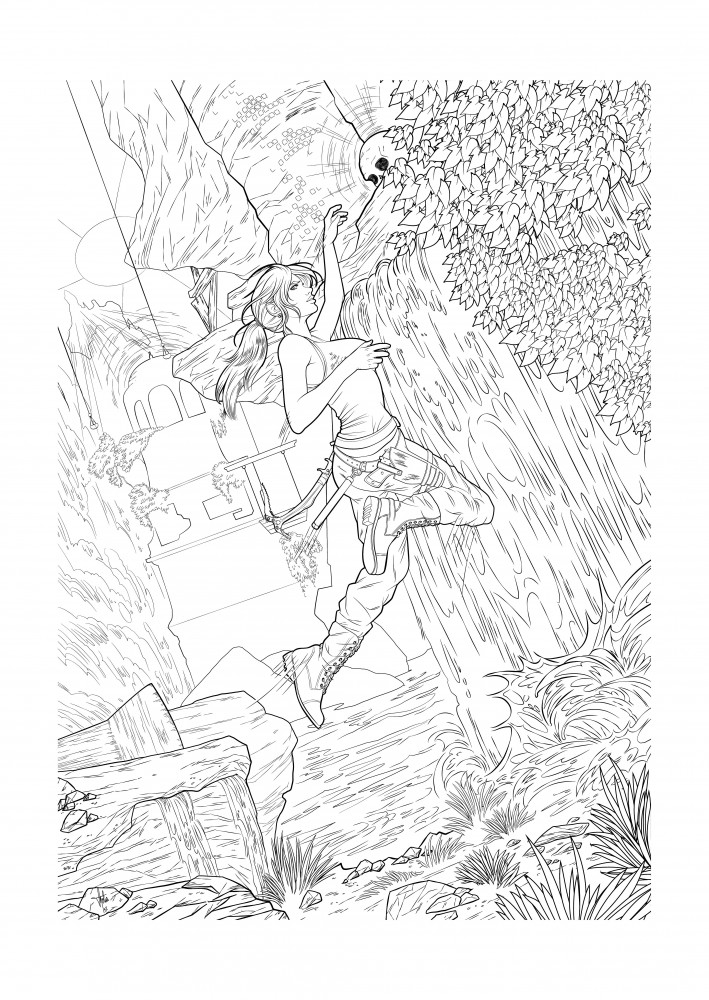 Coloring book - Rise of the Tomb Raider