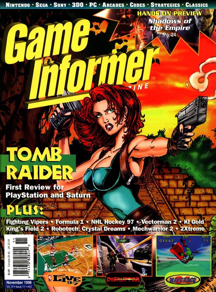 Finální verze obálky s Larou Croft z první hry Tomb Raidera