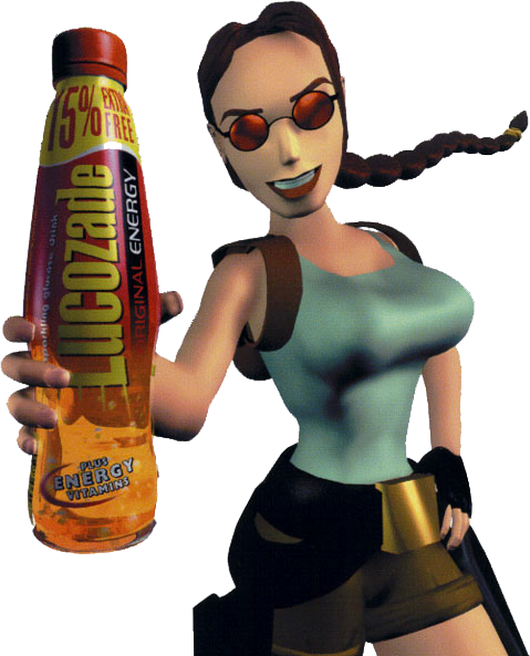 Lara with Lucozade