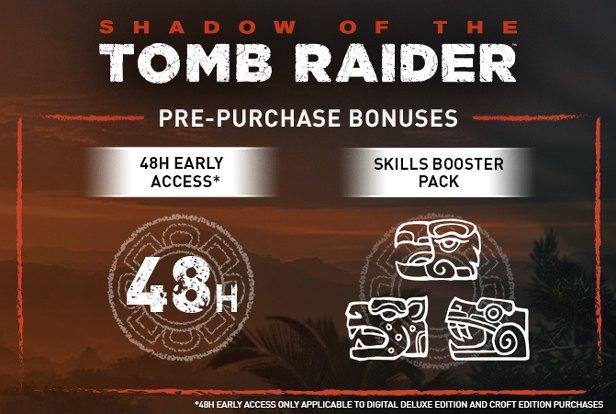 Shadow of the Tomb Raider předobjednávkové bonusy
