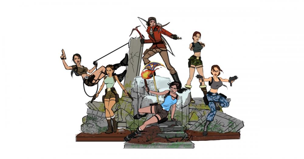 Tomb Raider 20 sošky Lary Croft