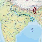 Mapa Indie, řeka Ganga