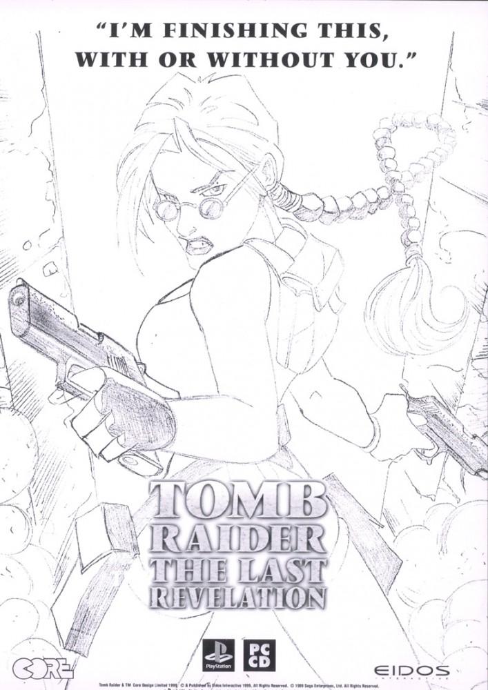 Tomb Raider 4 návrh reklamního plakátu